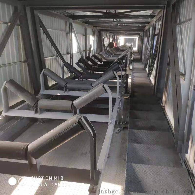 水泥厂胶带机35度上托辊 108直径35度上托辊组