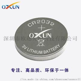 深圳锂电池现货供应CR2032纽扣电池