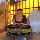 木雕佛像工藝廠西方三聖佛像,木雕西方三聖生產廠家