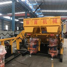 甘肃平凉自动上料喷浆机供货一拖二自动上料喷浆机组质量