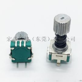 EC11伸縮編碼器彈簧帶自鎖按壓功能旋轉編碼器