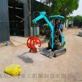 挖機操作 石英砂灌倉管鏈機 六九重工 果園農用挖