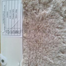 大兔毛,化纤面料,针织,毛绒布面料,假毛