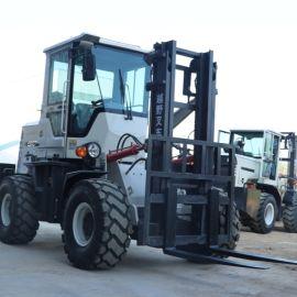 越野四轮四驱一体式 3吨5铲车搬运车 液压堆高车