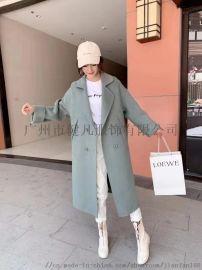 阿尔巴卡双面羊绒大衣 呢子外套 广州折扣货源