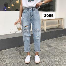 秋季新品牛仔裤美姿MeiZi品牌折扣女装厂家直销