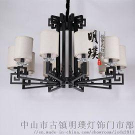 新中式吊燈客廳燈中國風燈具客廳簡約現代吊燈