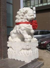 汉白玉石雕石狮子雕塑
