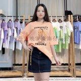 韩都衣舍短袖t恤女品牌折扣女装电商直播一手货源