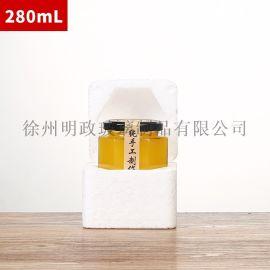 六棱瓶柠檬膏瓶蜂蜜瓶燕窝瓶分装瓶辣椒酱瓶密封罐