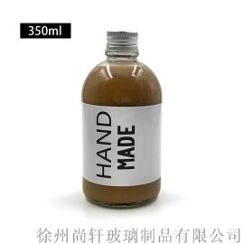 350ml果蔬汁饮料瓶玻璃瓶密封玻璃罐