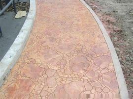 贵州省凯里市西江县混凝土压模地坪材料/压花路面施工