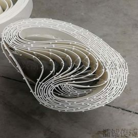 橡皮筋pvc输送带 环形白色输送带