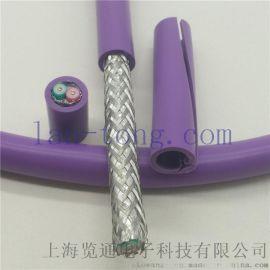 紫色Profibus总线电缆 DP通信双绞线
