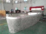 物流中心门头铝单板装饰,双曲造型穿孔铝单板