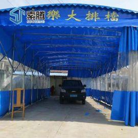 河南洛阳市厂家定制大型帐篷烧烤伸缩棚球场伸缩蓬