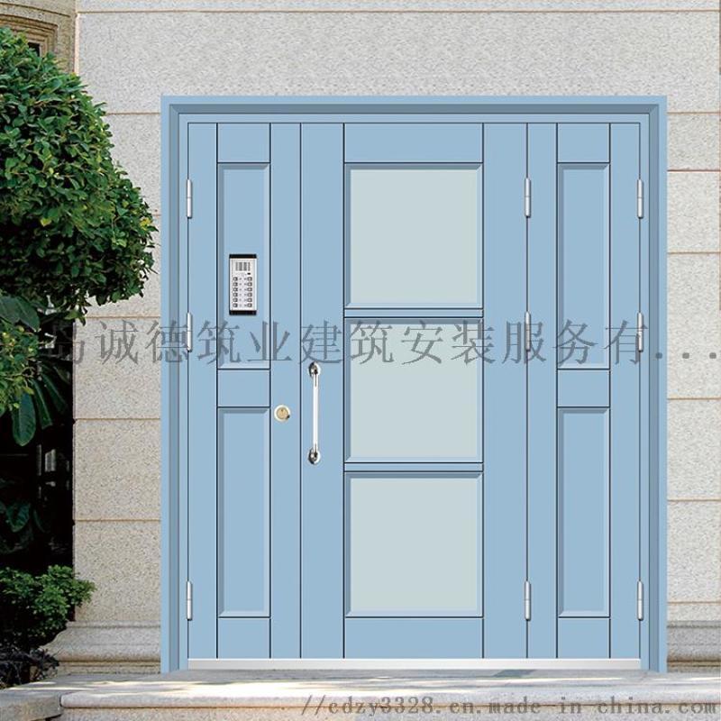 生產單元門 樓宇防盜門 玻璃對講門 廠家供應
