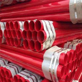内外涂塑复合钢管,厂家直销,红色消防,蓝色给水