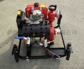 应急备用2.5寸柴油机消防泵