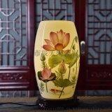 陶瓷中式沙发旁台灯 实木框卧室LED床头台灯灯具