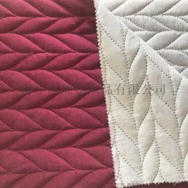丽丝绒超声波夹棉复合家纺面料 无线绗缝抱枕布