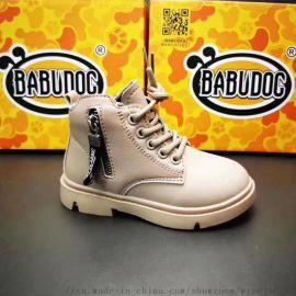 福建泉州品牌童鞋尾货批发   时装童皮鞋 厂家直销