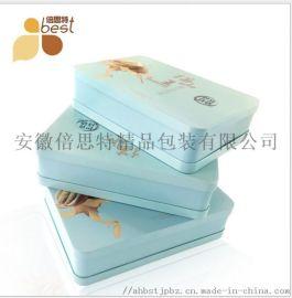 供应6个装月饼铁盒 定制精美月饼礼盒 马口铁盒