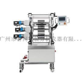 桌面三辊压延实验机,小型橡胶多辊压延机,广州普同