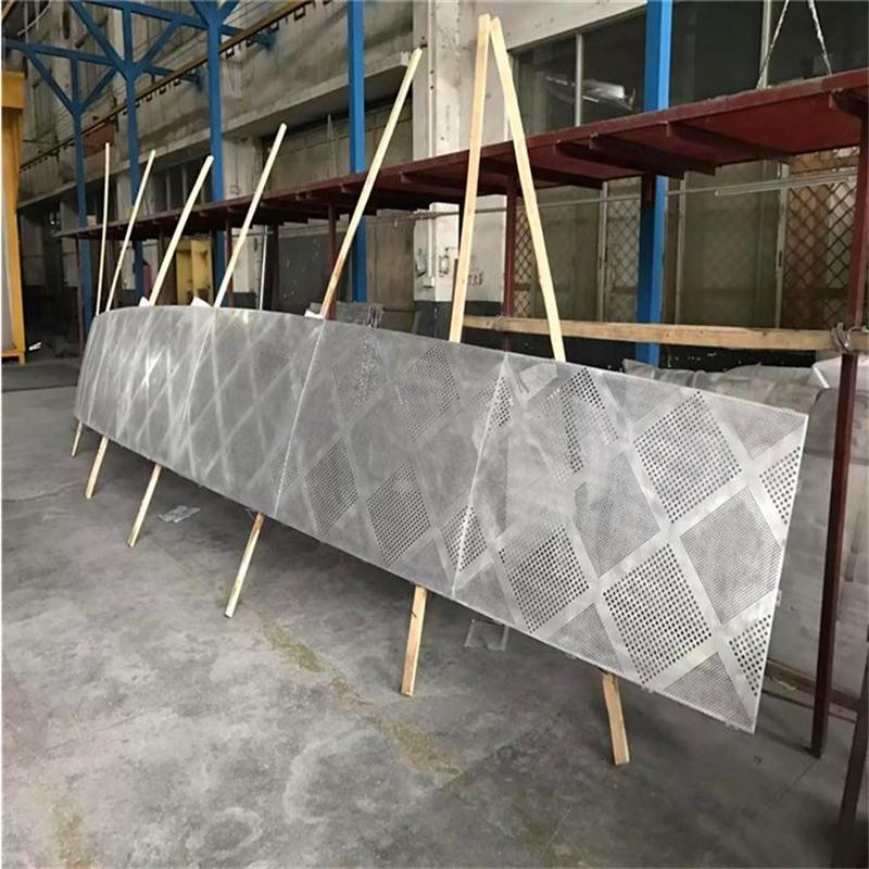 弧形冲孔铝单板 立面墙冲孔铝单板