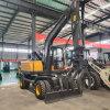 中型轮式挖掘机工程抓挖两用轮胎式液压挖土抓木机