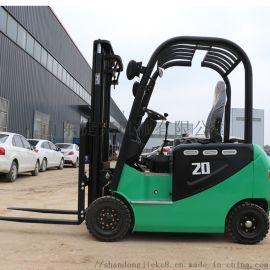 直销2吨四轮电动叉车 托盘装卸车 电动叉车堆垛铲车