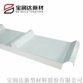 养殖场聚氨酯板吊顶 铝箔彩钢夹芯板 屋面板厂家