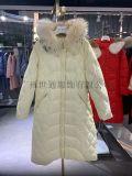 杭州四季青女装品牌折扣服装货源羊绒大衣羽绒服大衣