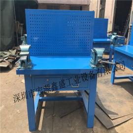 鐵板鉗桌,實用鐵制臺鑽桌,帶防護網四工位