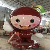 供應福建果園卡通李子雕塑、玻璃鋼卡通水果雕塑模型