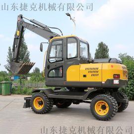 新疆  抓棉花用小型轮式挖掘机 80轮胎挖机 捷克