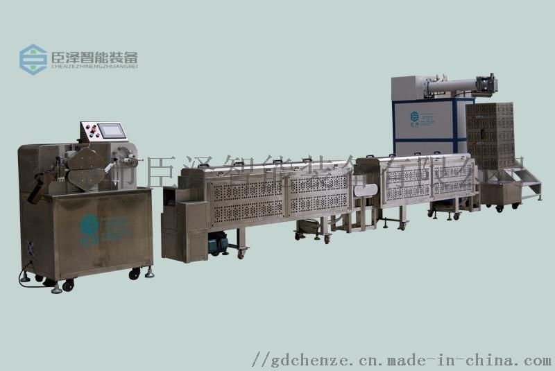 东莞臣泽立式单色硅胶挤出生产线