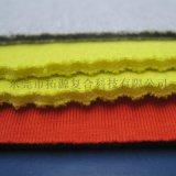 三層海綿複合布_針織布海綿火焰複合衛衣面料