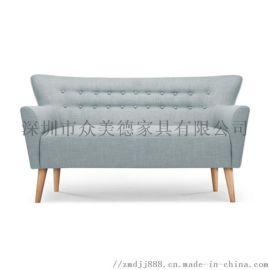 双人休闲沙发,咖啡厅办公洽谈沙发,布艺沙发图片