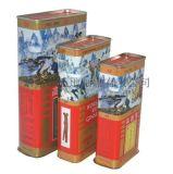 工廠直供茶葉套裝鐵盒 方形茶葉罐 馬口鐵密封茶葉盒