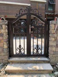 西安别墅大门 庭院大门价格 铝艺自动平开门