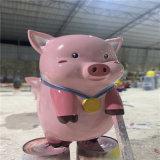 江门玻璃钢猪雕塑 玻璃钢生肖雕塑