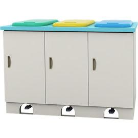 SKH040-11 三联脚踏污物柜 废物柜