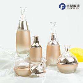 迪澳系列套装瓶现货 化妆品乳液膏霜面霜玻璃瓶