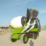 2.6方轮式混凝土搅拌车 全自动上料小型搅拌车