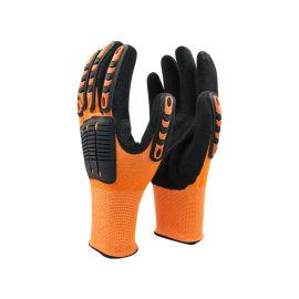 三级防切割橘色TPR手套