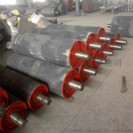 1.2米皮带机挂胶改向滚筒总成 洗煤厂通用改向滚筒