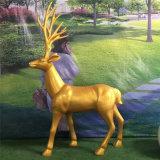 玻璃钢抽象鹿 仿真鹿 园林景观摆件