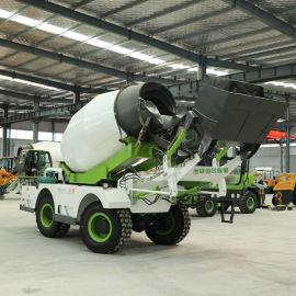 生产混凝土自上料搅拌车 多功能水泥搅拌车