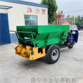 大棚用自走式三轮施肥机/拖拉机带动撒粪车